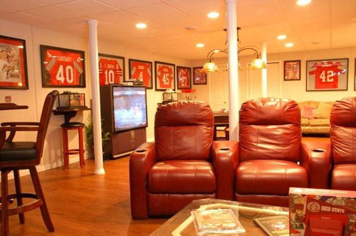 Man Caves Englewood : Gallery of finished basements in new jersey