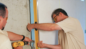 installing a basement wall finishing system in Livingston