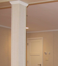 Easy Wrap column sleeves in Chatham basement