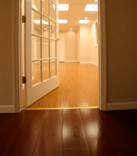 Basement Wood Flooring installed in Mendham, New Jersey