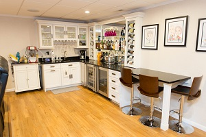 Bar in a Chester finished basement