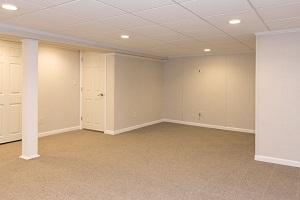 A complete finished basement system in a Chatham home