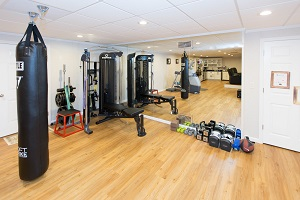 Installation of a basement gym in Chester