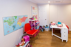 Children's playroom installed in a Chester basement